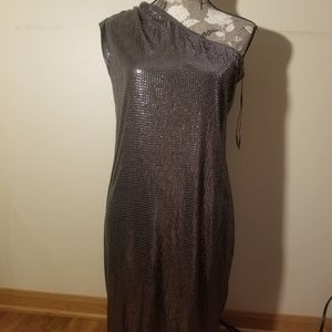 Gunmetal sequin michael Kors dress